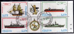 ITALIA REPUBBLICA ITALY REPUBLIC 1978 COSTRUZIONI NAVALI NAVI ITALIANE SHIPS SHIPBUILDING BLOCCO BLOCK USATO USED - Blocchi & Foglietti