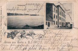 Gruss Aus Gartz A.O. Totalansicht, Gymnasium. Soldatenbrief 1898. Gartz (Oder). - Gartz