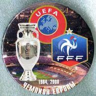 Pin Badge France EURO 1984 2000 Winner - Football
