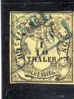OLDENBOURG: Année 1852-55 (grand Duché)N°4 Oblitéré - Oldenburg