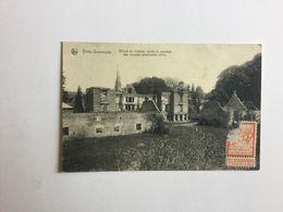 YVES GOMEZEE   RUINES DU CHATEAU APRES LE PASSAGE DES TROUPES ALLEMANDES (1914 )   DOS SPECIAL ! PUBLICITE CANNOODT GENT - Walcourt