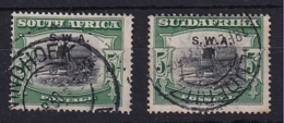 South West Africa: 1927/30   Ox Wagon 'S.W.A.' OVPT  SG66   5/-    Used Singles - South West Africa (1923-1990)