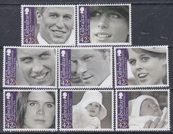 Gibraltar N° 1325 / 32 XX Les Petits Enfants De La Reine Elisabeth II, Les 8 Valeurs Sans Charnière,  TB - Gibilterra