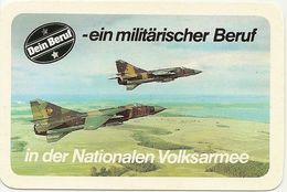 Pocket Calendar Germany - 1987 - Army - Aviation - Aircraft - Advertising. - Calendriers