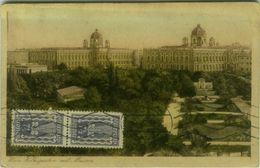 AK  AUSTRIA - WIEN VOLKSGARTEN MIT MUSEUM - MAILED BY HANS LICHTMESS - 1922 ( BG8576) - Otros