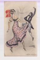 CPA FANTAISIE Illustrateur NAILLOD - Femme Et Homme Danseurs - Mode 1809 - Naillod