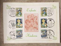 2151/53 (2x Série Complète Enfants) 6 Cachets Diff: Charleroi, La Hulpe, Welle, Renaix, Bruxelles 1020, Brussel 1020 - Maximumkarten (MC)