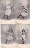 CPA FEMME( L'Escarpolette.) ,8 Cartes De La Même Série. (1904) - Femmes