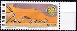 Namibia, 2005, 1151,  MNH **, 100 Jahre Rotary International. - Namibie (1990- ...)