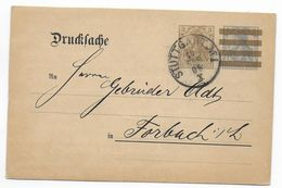 "GERMANIA - 1909 - CP ENTIER PRIVEE DRUCKSACHE ""CARL BERINGER"" Au DOS De STUTTGART => FORBACH (MOSELLE) - Allemagne"