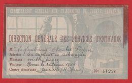 Commissariat Général Aux Prisonniers De Guerre Rapatriés ;Service D'entr'aide Joinville 1944 ;En Captivité En Allemagne - Historische Dokumente