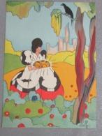 Illustrateur  - Blanche-Neige - Chromos -découpis Signés - Picture Cards