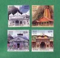 INDIA 2019 Inde Indien - CHAR DHAM - 4v MNH ** - HINDU TEMPLE, HINDUISM, Pilgrimage - As Scan - Hinduism