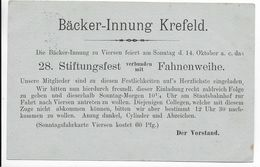 "GERMANIA - 1900 - CP ENTIER MiP44b II Avec REPIQUAGE ""BÄCKER-INNUNG"" De KREFELD => KREFELD - Ganzsachen"