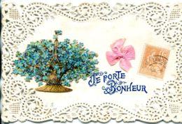 N°931 R -carte Collage Montage Découpis -je Porte Bonheur- - Fantaisies