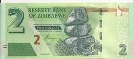 ZIMBABWE 2 DOLLARS 2016 UNC P 99 - Simbabwe