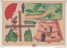 Fixe Jouet à Monter Moulin Molen Publicité Phoscao  Découpage Illustrateur Superbe état - Andere Verzamelingen