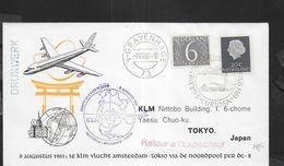 HOLLAND - FIRST FLIGHT-  AMSTERDAM-ANCHORAHE-TOKYO-BIAK - 11.VIII.1961 SU BUSTA UFFICIALE PER T0KYO - Period 1949-1980 (Juliana)