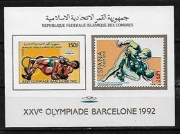 &BAR-111& COMORES MICHEL BL 258B MNH**. SPORT, BARCELONA 92. WRESTLING. - Comores (1975-...)