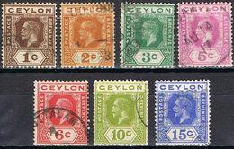 COLONIES ANGLAISES-CEYLON 178 / 183 - Ceylon (...-1947)