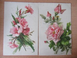 Catharina KLEIN - 2 Cartes Postales Illustrateur Signées - Thème Fleurs - En Couleur - Non-circulées - Klein, Catharina
