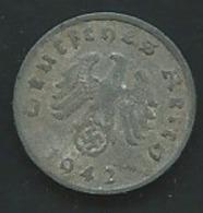 Allemagne - DEUTSCHES REICH 1942 A: 1 Reichspfennig  - Laupi13005 - [ 4] 1933-1945 : Tercer Reich
