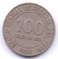 PERU 1980: 100 Soles De Oro, KM 283 - Pérou