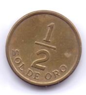 PERU 1976: 1/2 Sol De Oro, KM 265 - Pérou