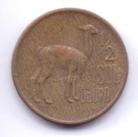 PERU 1975: 1/2 Sol De Oro, KM 260 - Pérou