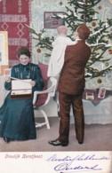 3817289Vroolijk Kerstfeest. (poststempel 1904)(zie Hoeken En Randen) - Christmas