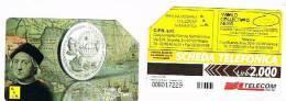 TELECOM ITALIA - OMAGGIO PRIVATE - C.&C. 3405 -  C.F.N. MILANO: CRISTOFORO COLOMBO      2.000 - USATA - Italia