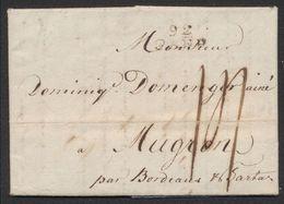 Précurseur - LAC Datée De Gand 1er Floréal An 8 (21/4/1800) + Obl Linéaire 92 GAND > Mugron (France) - 1794-1814 (Période Française)