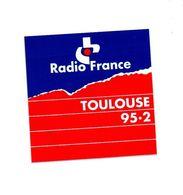 Autocollant RadioFrance Toulouse 95.3 - Format : 8x8 Cm - Adesivi