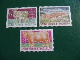 SAINT PIERRE ET MIQUELON YVERT POSTE ORDINAIRE N° 407/409 NEUFS** LUXE COTE 62,00 EUROS - St.Pierre & Miquelon