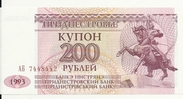 TRANSNISTRIE 200 RUBLEI 1993 UNC P 21 - Moldavie