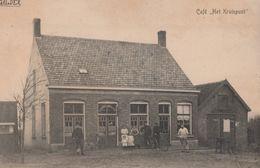 Mooie Oude Kaart Galder Café Het Kruispunt Verstuurd Naar Dongen - Pays-Bas