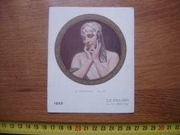 CALENDRIER ART DECO POUR LE FIGARO SERVICE PETITES ANNONCES RUE DROUOT PARIS 1925 BRISGAND AZIYADE - Kalenders