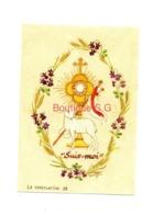 Image Pieuse Croyance Religion Souvenir Premiere Communion Domitille Livie Perpignan Chapelle Christ Roi 2008 - Imágenes Religiosas