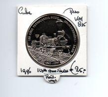 CUBA PESO 1996 150th ANN. SWISS RAILROAD - Cuba