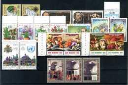1992 SAN MARINO ANNATA COMPLETA MNH ** (ordinaria - Come Da Scansione) - Saint-Marin