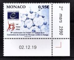 MONACO 2020 - CONSEIL DE L'EUROPE CONTRE LE DOPAGE - NEUF ** - Ongebruikt