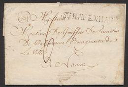 """Précurseur - LAC Datée De La Haye (1820) + Obl Linéaire S GRAVENHAGE Et Port """"6"""" > Bourgmestre De Namur + Cachet De Cire - 1815-1830 (Période Hollandaise)"""