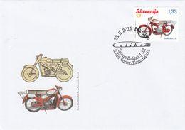 SLOVENIJA 2011 TOMAS COLIBRI T-12 KOPER CAPODISTRIA MOTOR BIKE  PRVI DAN COMMEMORATIVE COVER SPOMINSKA KUVERTA - Eslovenia