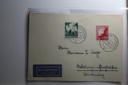 Deutsches Reich 530 + 632 Gestempelt Auf Karte Mit Luftpost Befördert #BA220 - Non Classificati