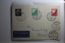 Deutsches Reich 512, 529-530 Gestempelt Auf Karte Mit Luftpost Befördert #BA223 - Non Classificati