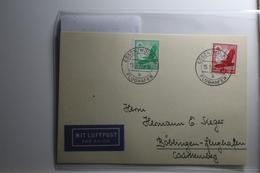 Deutsches Reich 529-530 Gestempelt Auf Karte Mit Luftpost Befördert #BA218 - Non Classificati