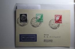 Deutsches Reich 512, 529-530 Gestempelt Auf Karte Mit Luftpost Befördert #BA221 - Non Classificati