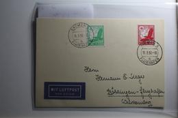 Deutsches Reich 529-530 Gestempelt Auf Karte Mit Luftpost Befördert #BA219 - Non Classificati
