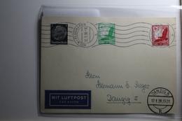 Deutsches Reich 512, 529-530 Gestempelt Auf Karte Mit Luftpost Befördert #BA222 - Non Classificati