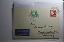 Deutsches Reich 529-530 Gestempelt Auf Karte Mit Luftpost Befördert #BA215 - Non Classificati
